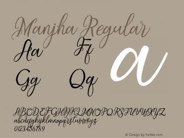 Manjha Regular 1.0.0图片样张