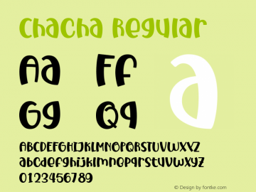Chacha Version 1.00;March 23, 2020图片样张