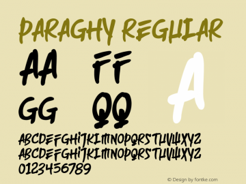 Paraghy Regular 1.0.0图片样张