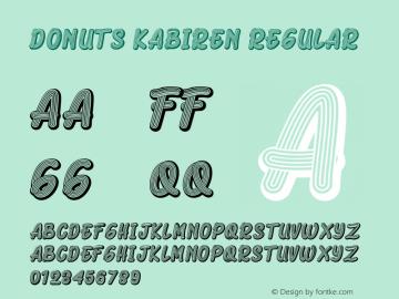 Donuts Kabiren Version 1.003;Fontself Maker 3.5.1图片样张