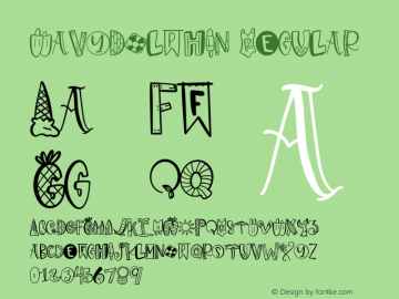 WavyDolphin Version 1.002;Fontself Maker 3.1.1图片样张