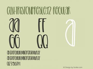 CLN-TristonPresley2 Version 1.002;Fontself Maker 3.3.0图片样张