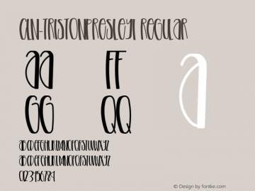 CLN-TristonPresley1 Version 1.002;Fontself Maker 3.3.0图片样张