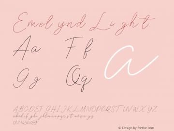 Emelynd Light Version 1.00;March 24, 2020;FontCreator 11.5.0.2422 64-bit图片样张