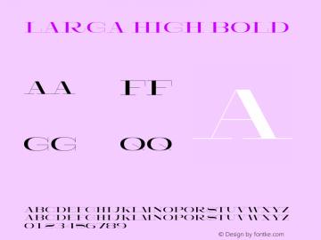 Larga High Bold Version 1.000;hotconv 1.0.109;makeotfexe 2.5.65596图片样张