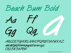 Beach Bum Bold Altsys Fontographer 4.1 5/24/96 Font Sample