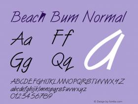 Beach Bum Normal Altsys Fontographer 4.1 5/24/96 Font Sample
