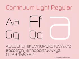Continuum Light Regular Macromedia Fontographer 4.1 5/6/96 Font Sample