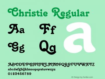 Christie Regular Macromedia Fontographer 4.1 5/6/96 Font Sample