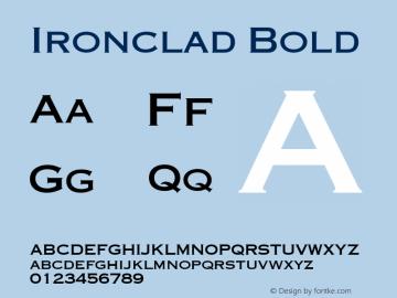 Ironclad Bold Font Version 2.6; Converter Version 1.10 Font Sample