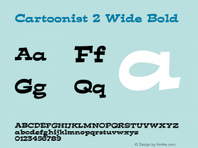 Cartoonist 2 Wide Bold Altsys Fontographer 4.1 5/31/96 Font Sample