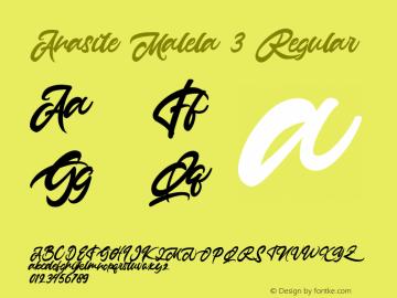 Anasite Malela 3 Version 1.00;March 18, 2020;FontCreator 11.5.0.2422 64-bit图片样张