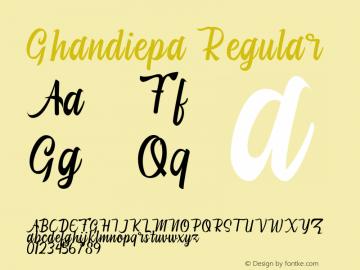 Ghandiepa Version 1.001;Fontself Maker 3.5.1图片样张