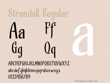 Strandall Regular Version 1.000图片样张
