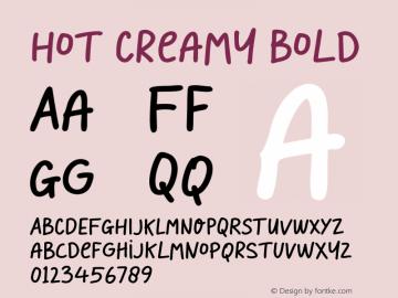 HotCreamy-Bold Version 1.000图片样张