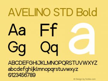 AVELINO STD Bold Version 1.000图片样张