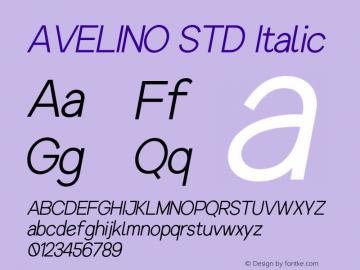 AVELINOSTD-Italic Version 1.000图片样张