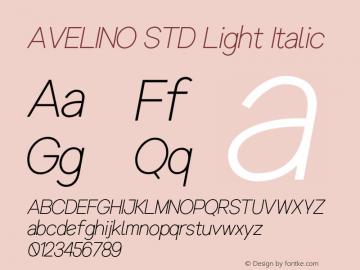 AVELINOSTD-LightItalic Version 1.000图片样张
