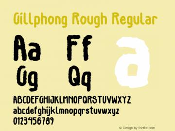 GillphongRough-Regular Version 1.000图片样张