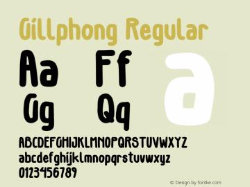 Gillphong-Regular Version 1.000图片样张