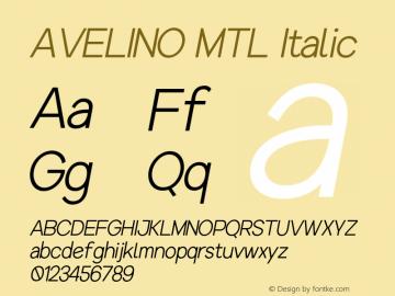 AVELINOMTL-Italic Version 1.000图片样张