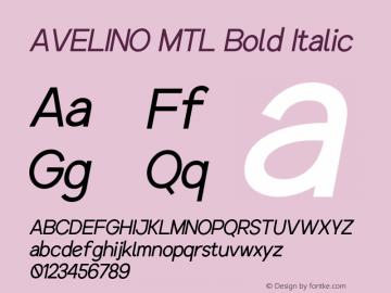 AVELINOMTL-BoldItalic Version 1.000图片样张