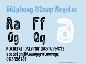 GillphongStamp-Regular Version 1.000图片样张
