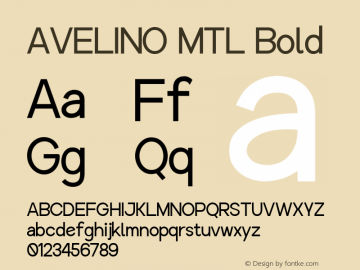 AVELINO MTL Bold Version 1.000图片样张