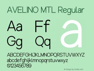 AVELINOMTL-Regular Version 1.000图片样张