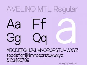 AVELINO MTL Regular Version 1.000图片样张