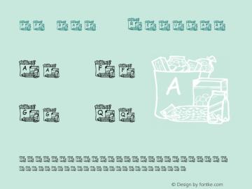 pf_bag-6 Regular 2001; 1.0, initial release Font Sample