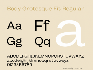 BodyGrotesque-FitRegular Version 1.006图片样张