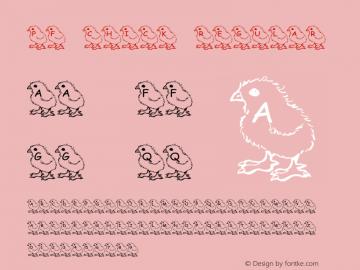 pf_chick Regular 2001; 1.0, initial release Font Sample