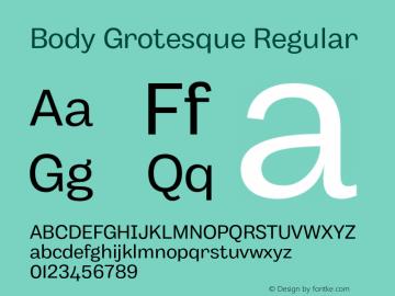 BodyGrotesque-Regular Version 1.006图片样张