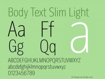BodyText-SlimLight Version 1.006图片样张