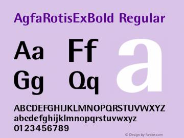 AgfaRotisExBold Regular Version 1.0e Font Sample