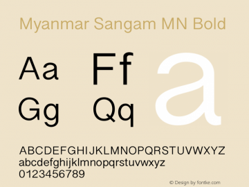 Myanmar Sangam MN Bold 14.0d1e8图片样张