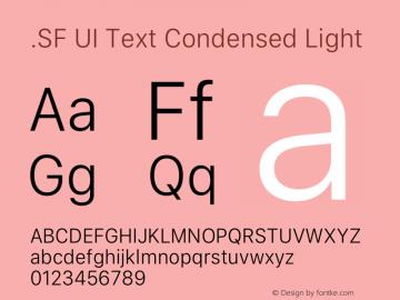 .SF UI Text Condensed Light 13.0d0e8图片样张