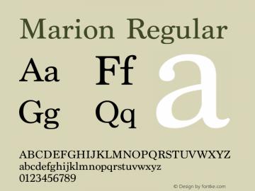Marion Regular 13.0d1e2图片样张