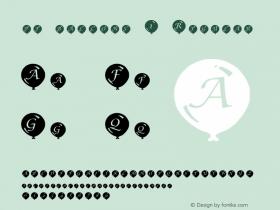 pf_ballons-1 Regular 2001; 1.0, initial release Font Sample