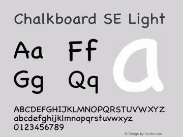 Chalkboard SE Light 13.0d1e2图片样张