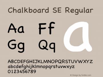 Chalkboard SE Regular 13.0d1e2图片样张