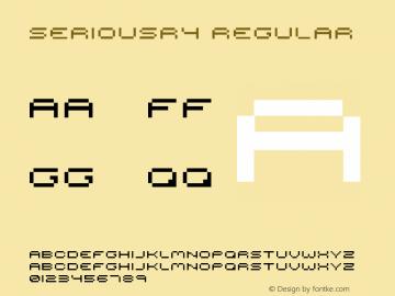 seriousr4 Regular 2001; 1.0, initial release Font Sample