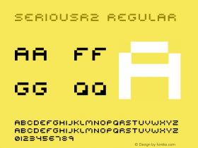 seriousr2 Regular 2001; 1.0, initial release Font Sample