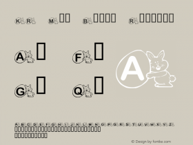 KR Mr. Bunny Regular Macromedia Fontographer 4.1 02/15/2001 Font Sample