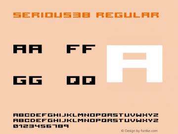 serious3b Regular 2001; 1.0, initial release Font Sample