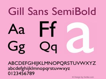Gill Sans SemiBold 13.0d1e4图片样张