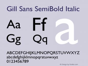 Gill Sans SemiBold Italic 13.0d1e4图片样张