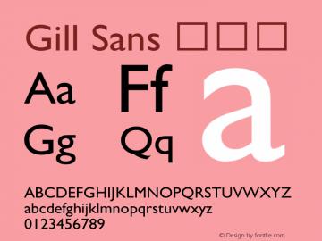 Gill Sans 细斜体 图片样张