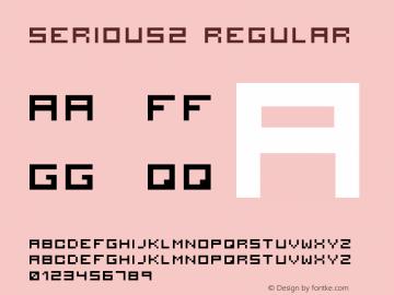 serious2 Regular 2001; 1.0, initial release Font Sample